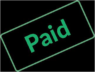 Invoice I - Invoice paid stamp